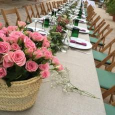 Decoracion floral en mesas