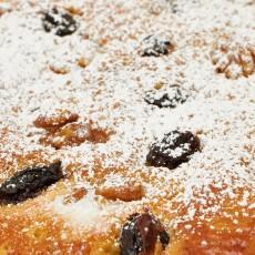 Torta de nueces y pasas