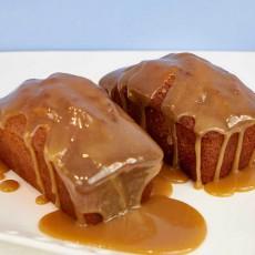 Cake de platano y caramelo
