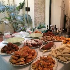 Merienda de cumpleaños. Presentación de la mesa